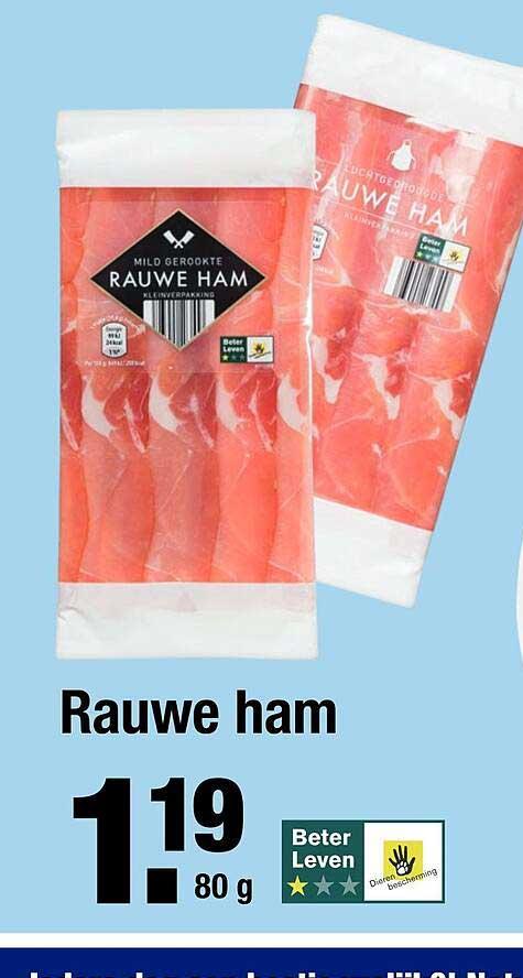 ALDI Rauwe Ham