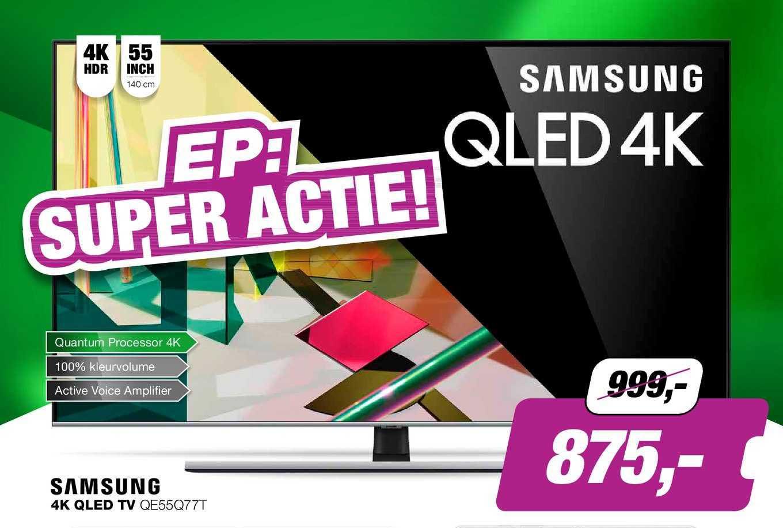 EP Samsung 4K QLED TV QE55Q77T