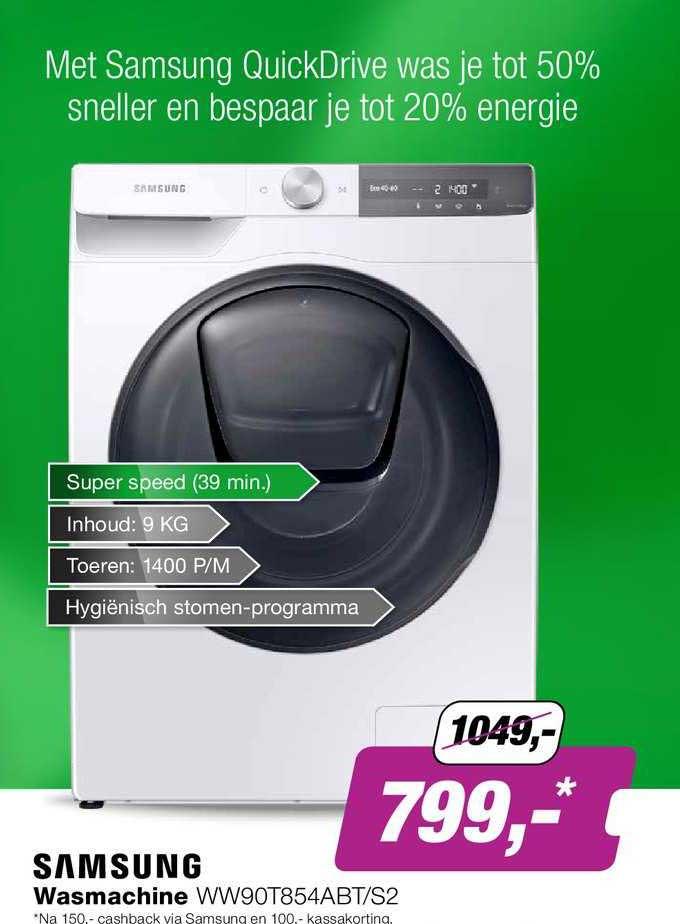 EP Samsung Wasmachine WW90T854ABT-S2