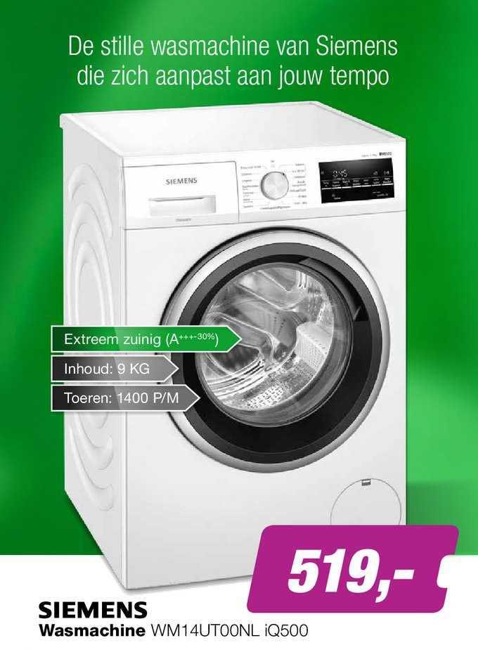 EP Siemens Wasmachine WM14UT00NL IQ500