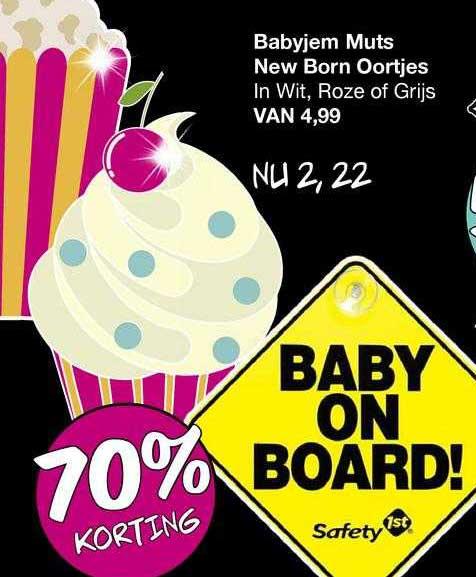 Van Asten Babyjem Muts New Born Oortjes 70% Korting