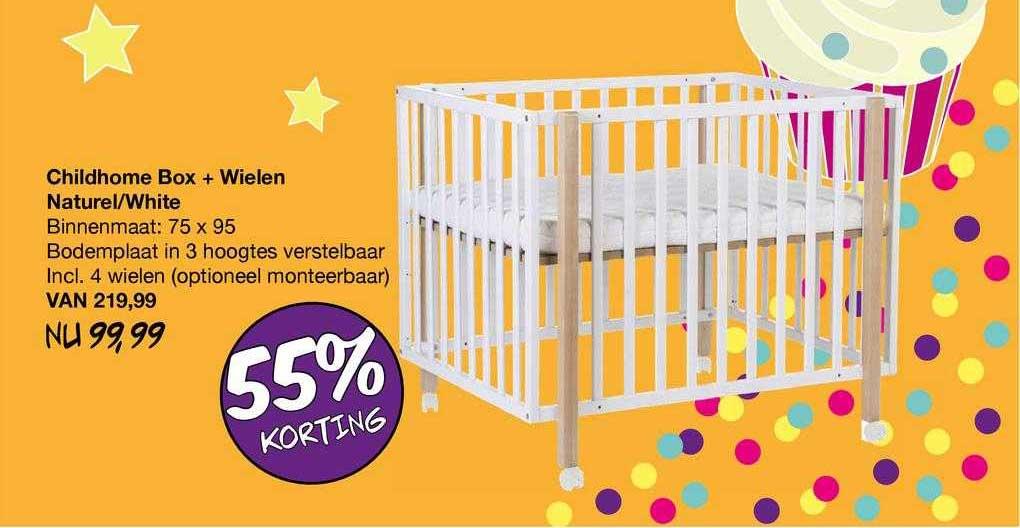 Van Asten Childhome Box + Wielen Naturel-White 55% Korting
