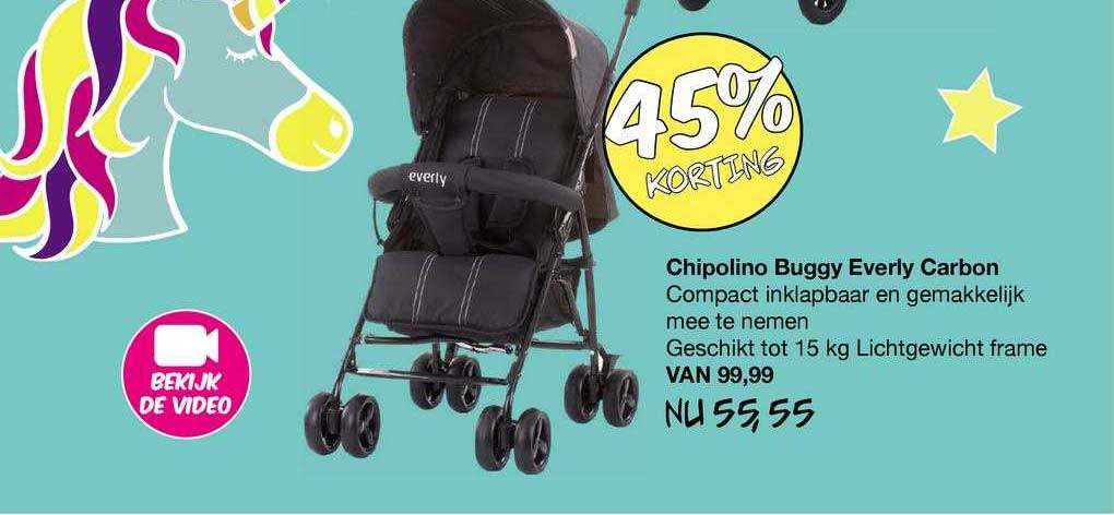 Van Asten Chipolino Buggy Everly Carbon 45% Korting