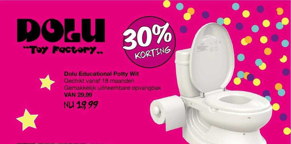 Van Asten Dolu Educational Potty Wit 30% Korting