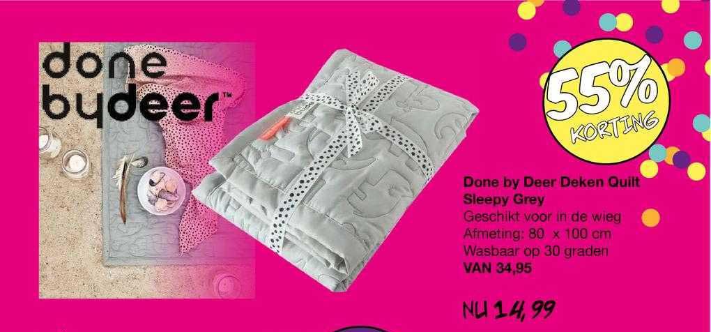 Van Asten Done By Deer Deken Quilt Sleepy Grey 55% Korting