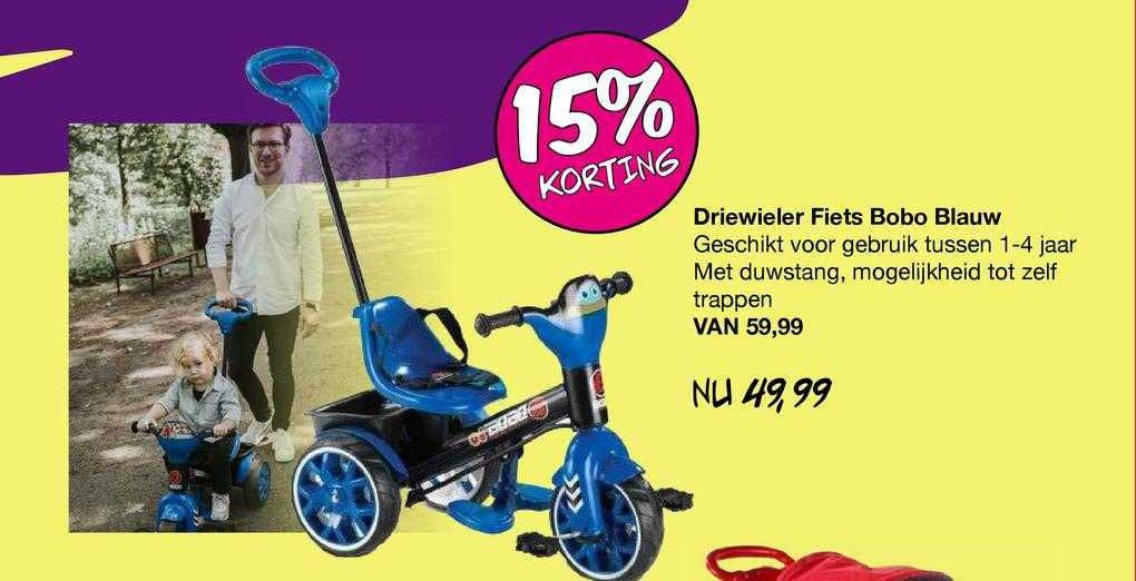 Van Asten Driewieler Fiets Bobo Blauw 15% Korting
