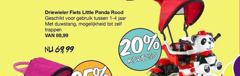 Van Asten Driewieler Fiets Little Panda Rood 20% Korting