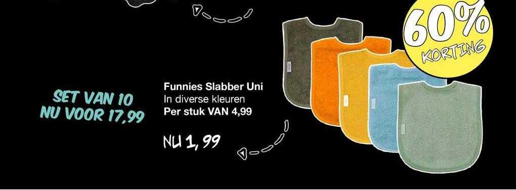 Van Asten Funnies Slabber Uni 60% Korting