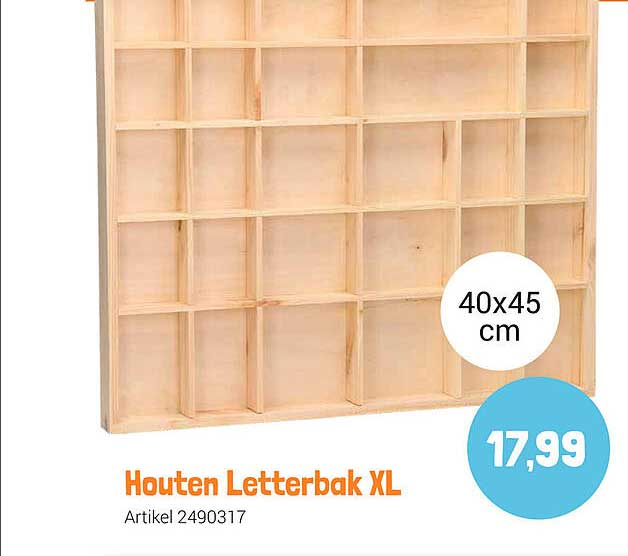 Lobbes Houten Letterbak XL