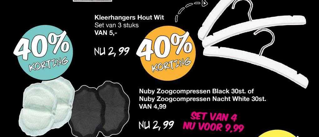 Van Asten Kleerhangers Hout Wit, Nuby Zoogcompressen Black 30st. Of Nuby Zoogcompressen Nacht White 30st. 40% Korting