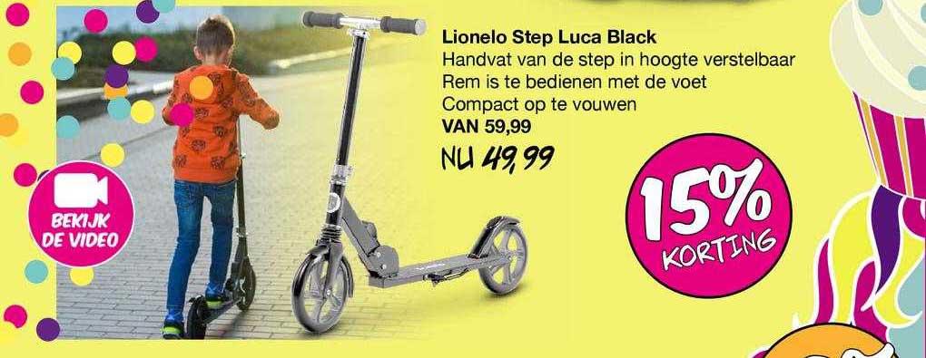 Van Asten Lionelo Step Luca Black 15% Korting