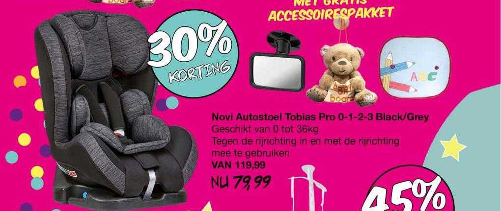 Van Asten Novi Autostoel Tobias Pro 0-1-2-3 Black-Grey 30% Korting
