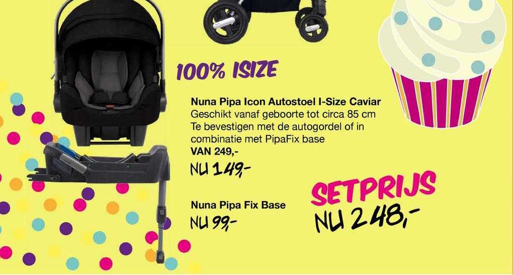 Van Asten Nuna Pipa Icon Autostoel I-Size Caviar