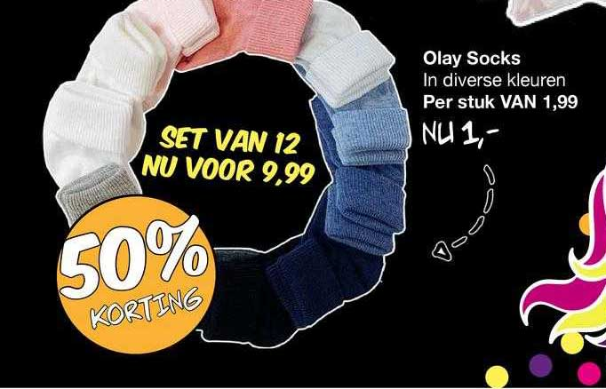 Van Asten Olay Socks 50% Korting