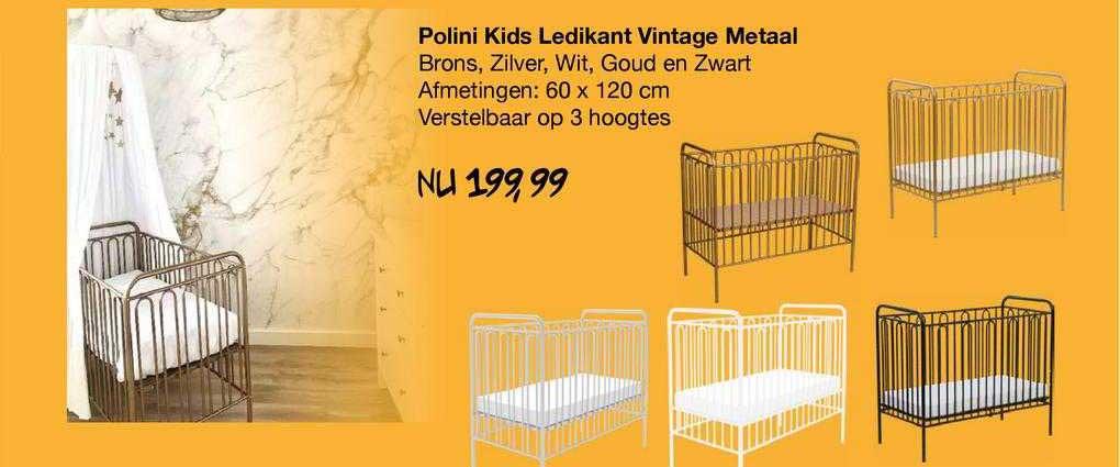Van Asten Polini Kids Ledikant Vintage Metaal
