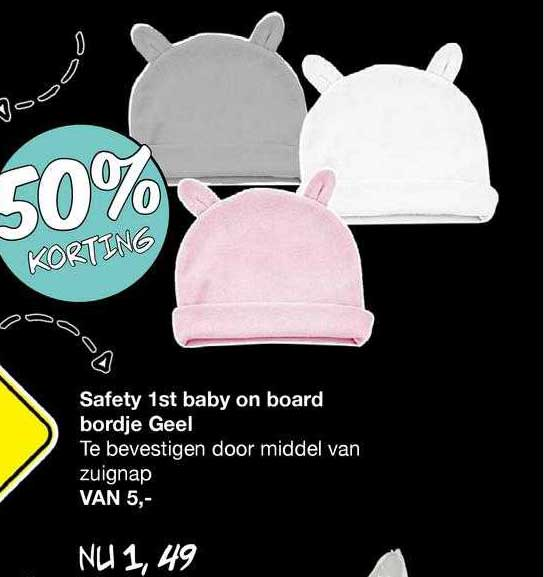 Van Asten Safety 1st Baby On Board Bordje Geel 50% Korting