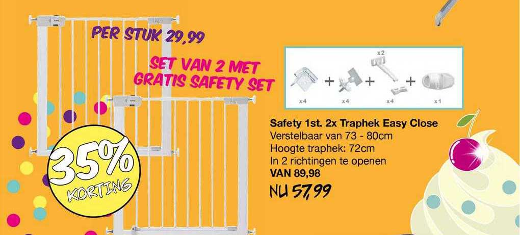 Van Asten Safety 1st. 2x Traphek Easy Close 35% Korting