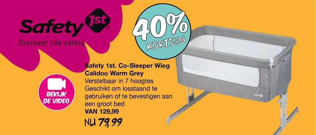 Van Asten Safety 1st. Co-Sleeper Wieg Calidoo Warm Grey 40% Korting