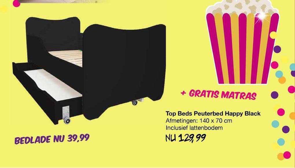 Van Asten Top Beds Peuterbed Happy Black