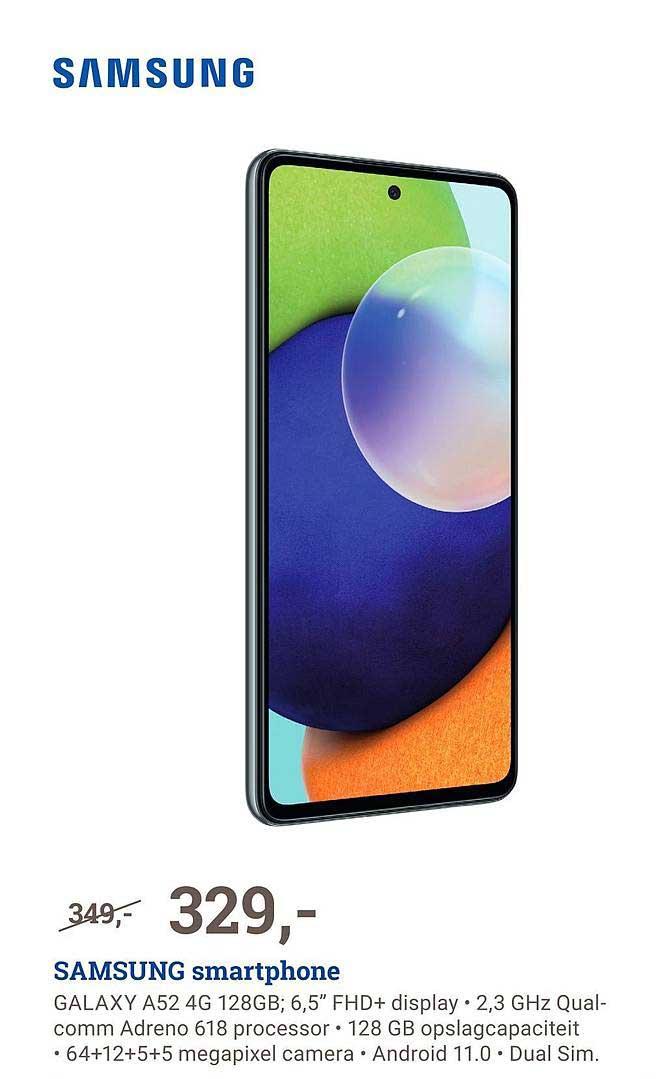 BCC Samsung Smartphone Galaxy A52 4G 128GB