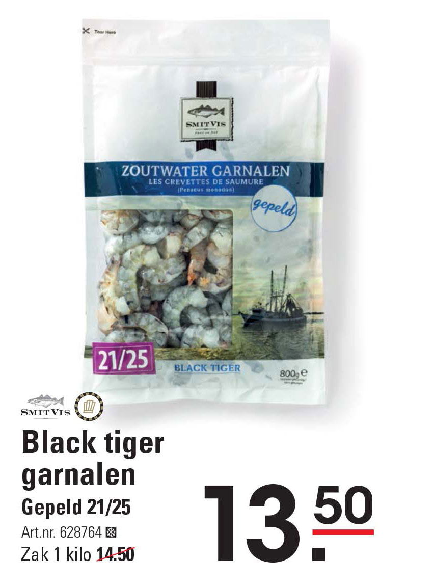 Sligro Black Tiger Garnalen