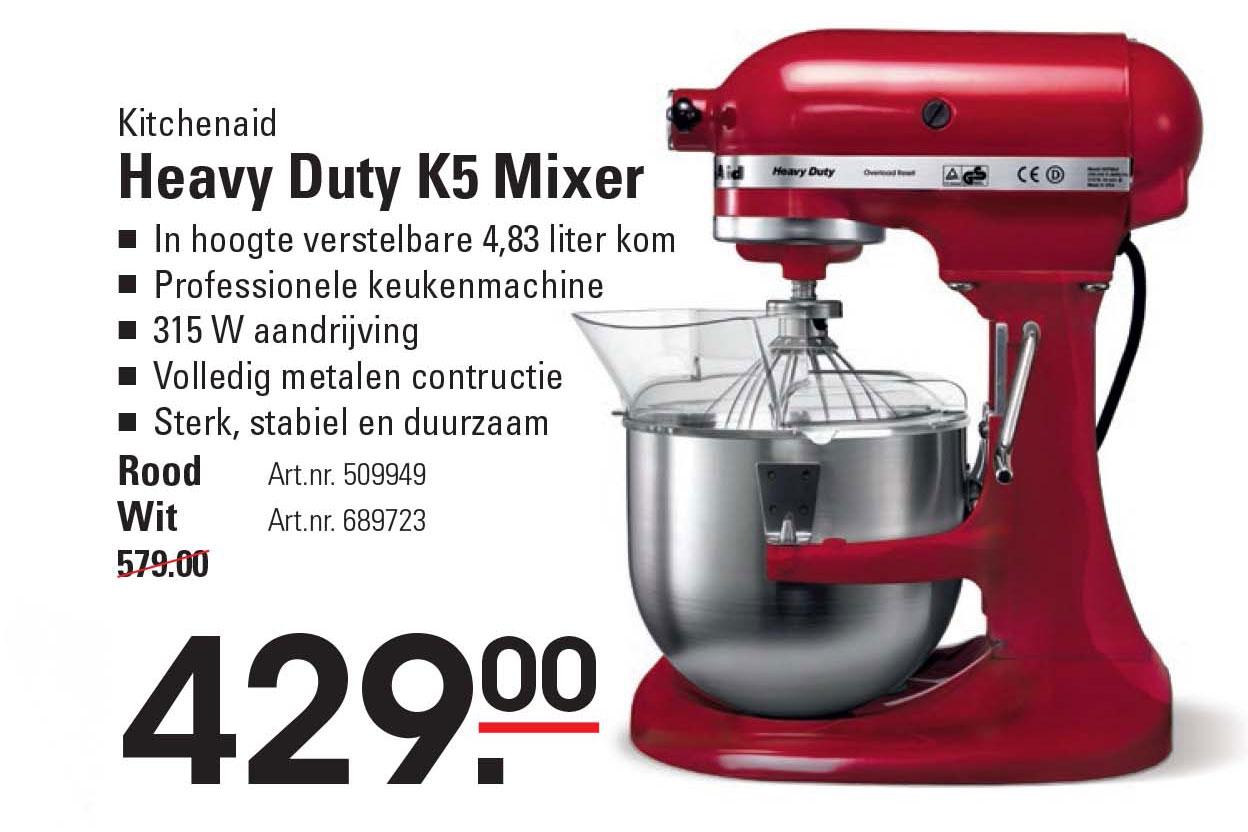 Sligro Kitchenaid Heavy Duty K5 Mixer