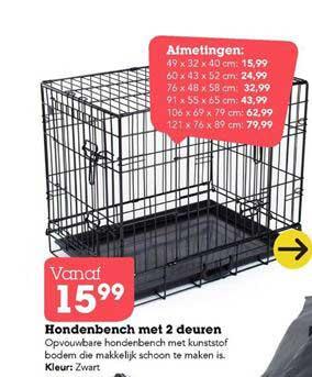 Discus Hondenbench Met 2 Deuren