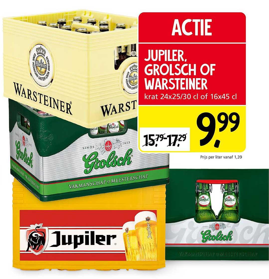 Jan Linders Jupiler, Grolsch Of Warsteiner