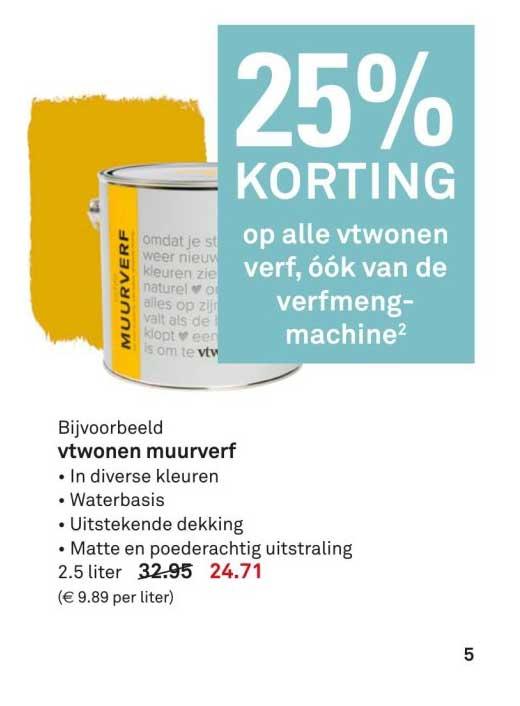 Karwei 25% Korting Op Alle Vtwonen Verf
