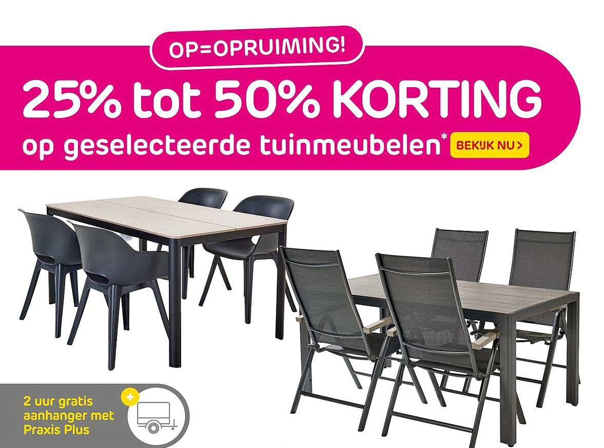 Praxis 25% Tot 50% Korting Op Geselecteerde Tuinmeubelen