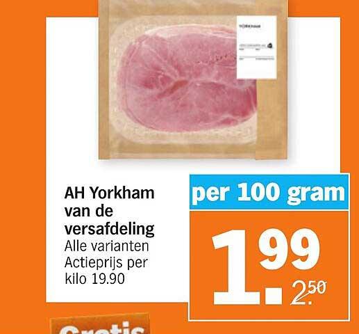Albert Heijn AH Yorkham Van De Versafdeling