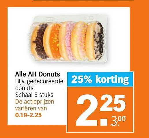 Albert Heijn Alle AH Donuts 25% Korting
