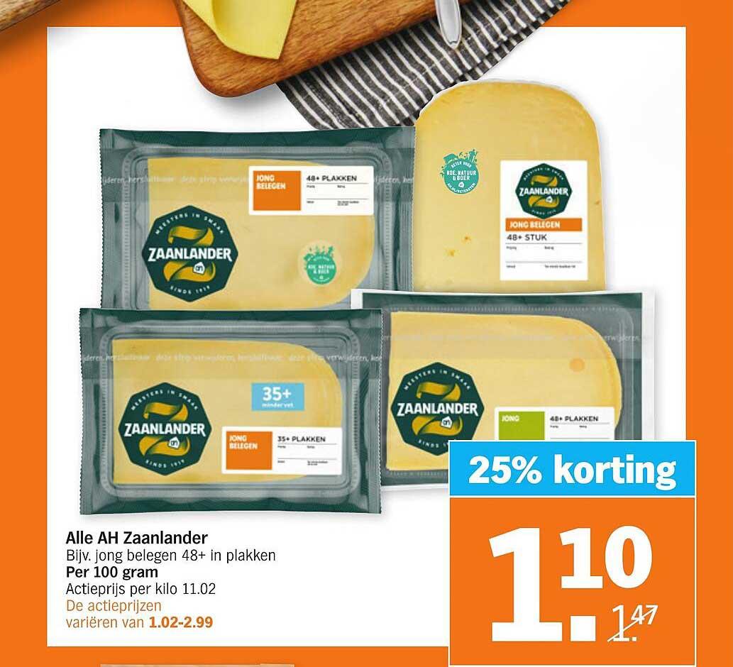 Albert Heijn Alle AH Zaanlander 25% Korting