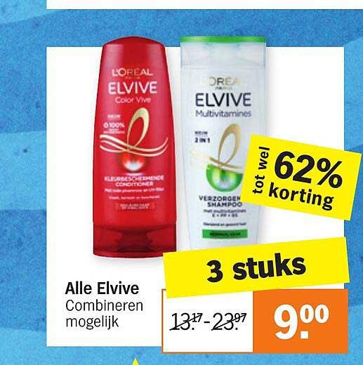 Albert Heijn Alle Elvive Tot Wel 62% Korting