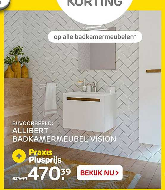 Praxis Allibert Badkamermeubel Vision