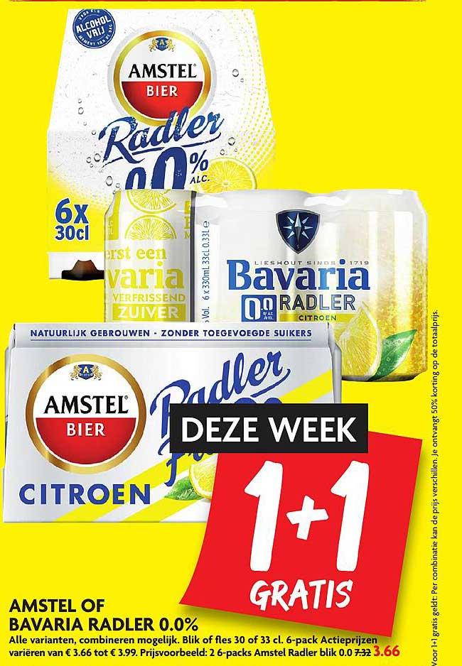 DekaMarkt Amstel Of Bavaria Radler 0.0% 1+1 Gratis
