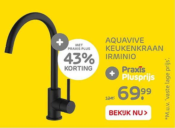 Praxis Aquavive Keukenkraan Irminio 43% Korting