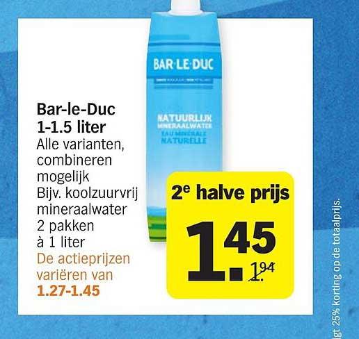 Albert Heijn Bar-Le-Duc 1-1.5 Liter