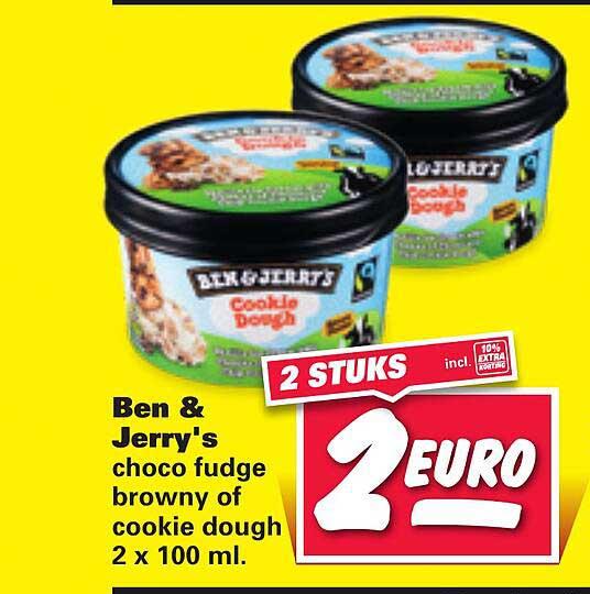 Nettorama Ben & Jerry's Choco Fudge Browny Of Cookie Dough