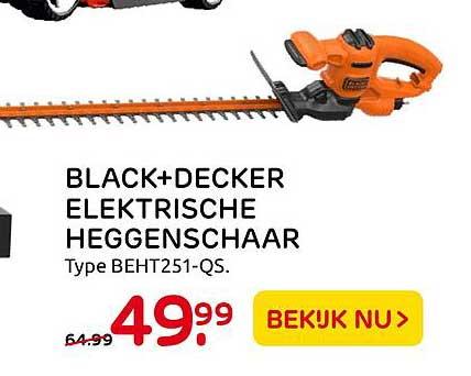 Praxis Black+Decker Elektrische Heggenschaar BEHT251-QS