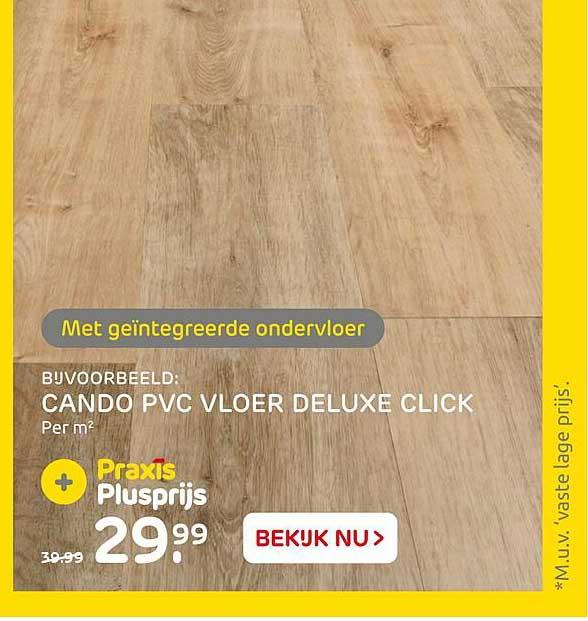 Praxis Cando PVC Vloer Deluxe Click