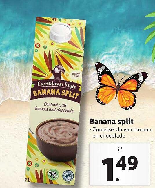 Lidl Caribbean Style Banana Split