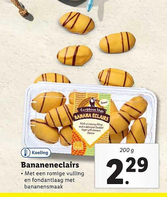 Lidl Caribbean Style Bananeneclairs