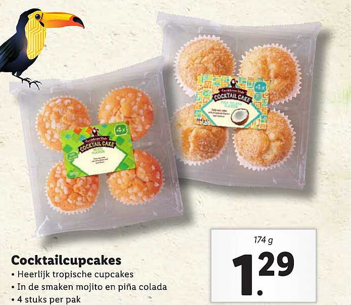 Lidl Caribbean Style Cocktailcupcakes