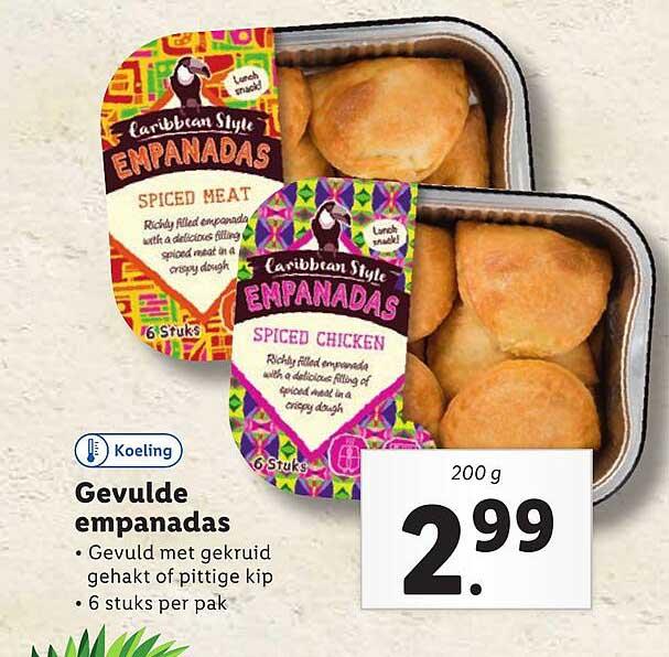 Lidl Caribbean Style Gevulde Empanadas