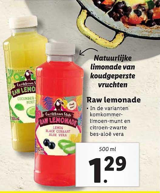 Lidl Caribbean Style Raw Lemonade