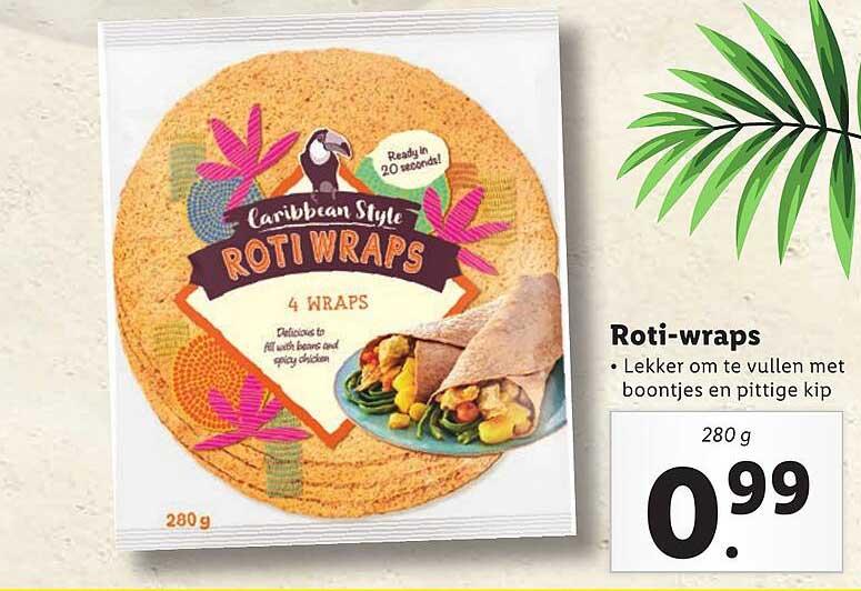 Lidl Caribbean Style Roti-Wraps
