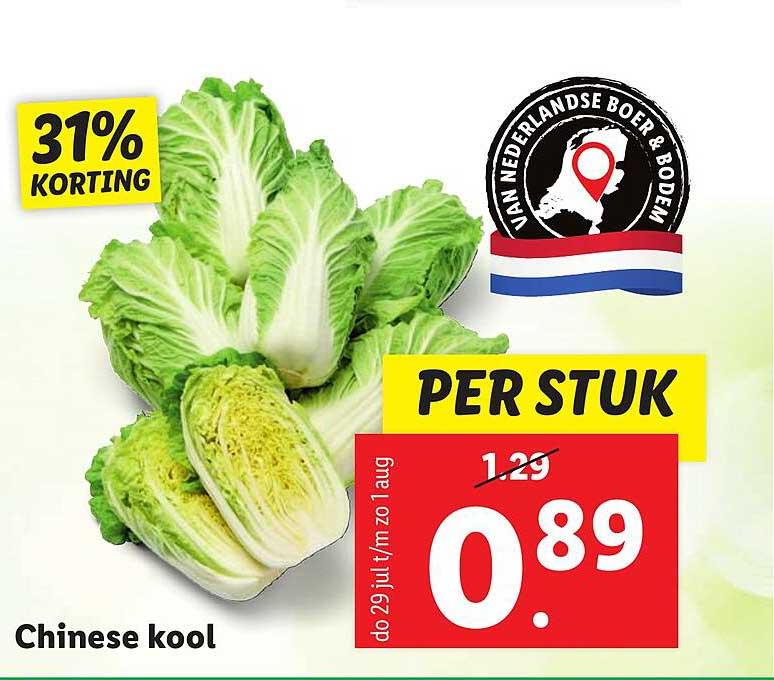Lidl Chinese Kool 31% Korting
