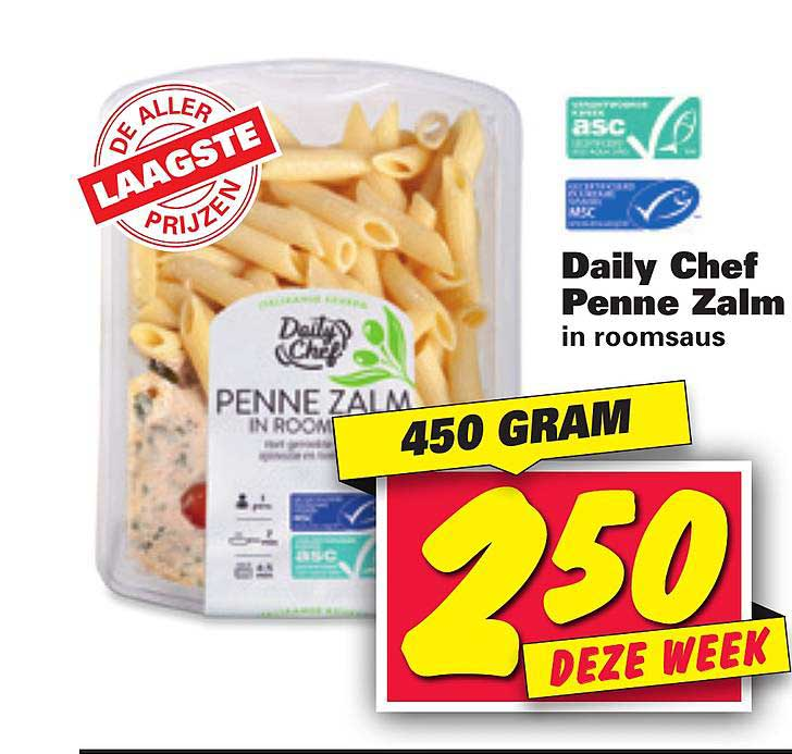 Nettorama Daily Chef Penne Zalm In Roomsaus