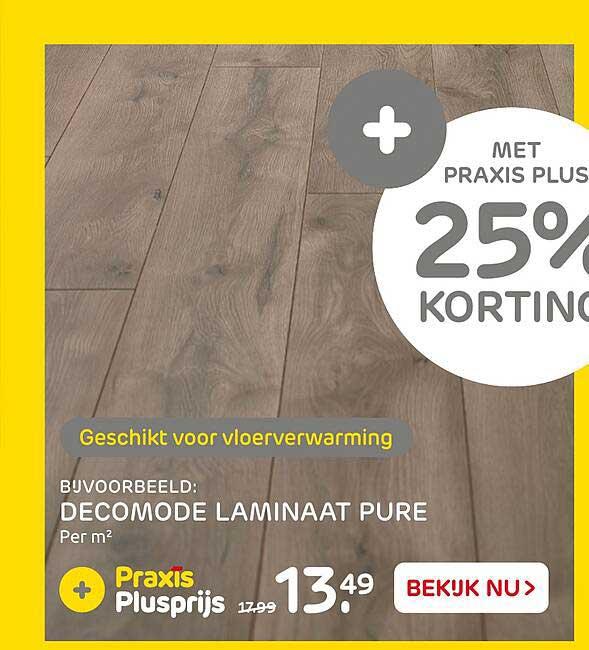 Praxis Decomode Laminaat Pure 25% Korting